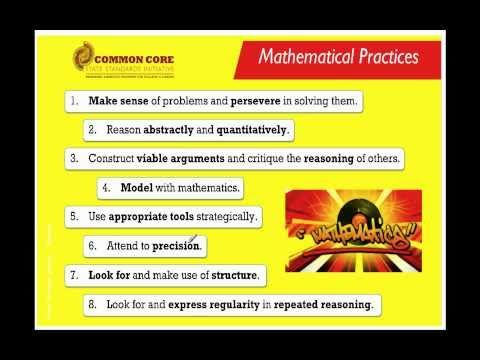 Common Core State Standards for Second Grade - Common Core Standards - Mathematical Practices (Part 1 of 2)