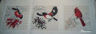 VERA:gondolataim  /kézimunkáról és egyebekről/: Bird  & Berris colectica  madarak befejezve.