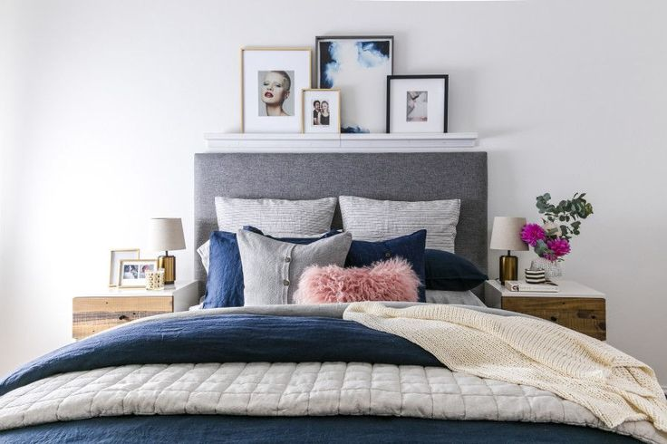 See the before + after of this navy blue bedroom makeover on the west elm blog!