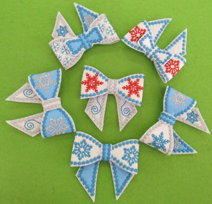 Frozen Bows 3D effect, for hairpiece or Gift wraps, even for present to Him, In the hoop project - machine embroidery design, 4x4 INSTANT by artapli on Etsy https://www.etsy.com/listing/211806326/frozen-bows-3d-effect-for-hairpiece-or