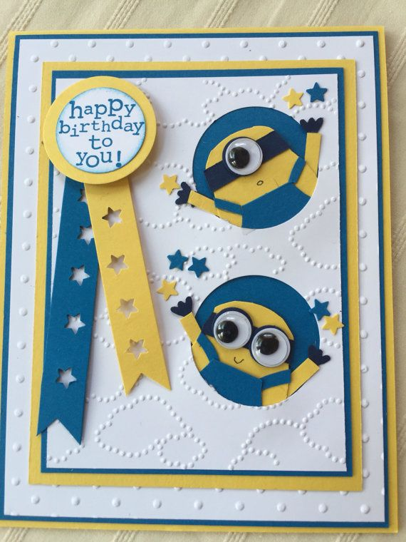 The 25+ best Minion birthday card ideas on Pinterest | Owl punch ...