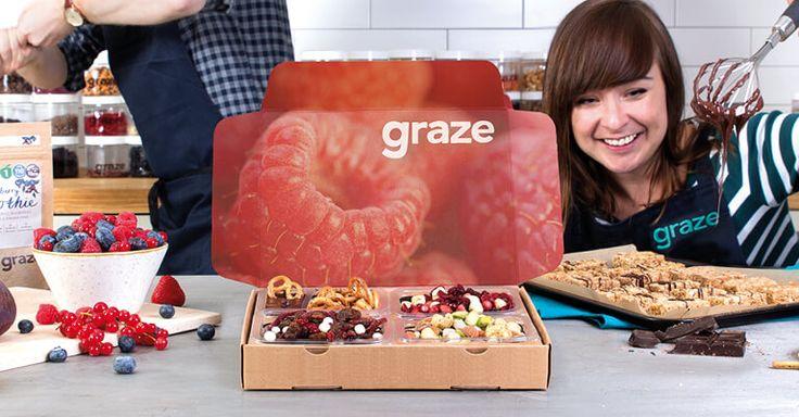 Holly, our taste expert, handing over a graze box.