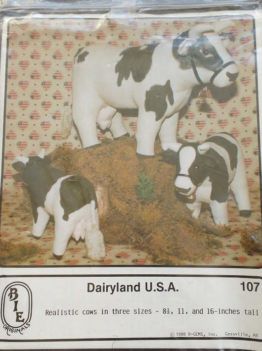 Dairyland USA Cow Pattern BIE Sewing Pattern