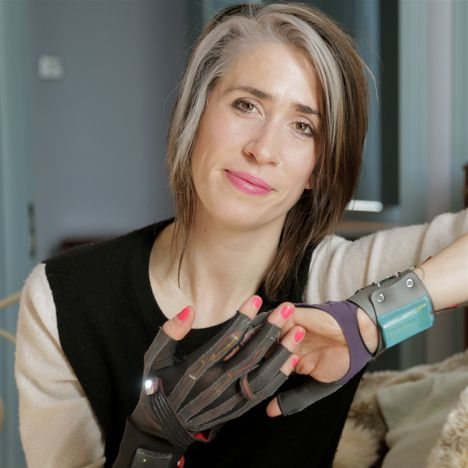 Imogen Heap - SERIOUSLY cool. Her  gloves turn gestures into music. Music becomes SF performance art :D