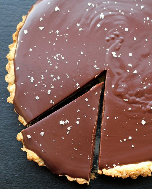 Oh my god. This Chocolate-Caramel Tart with Sea Salt from @Joanne ...