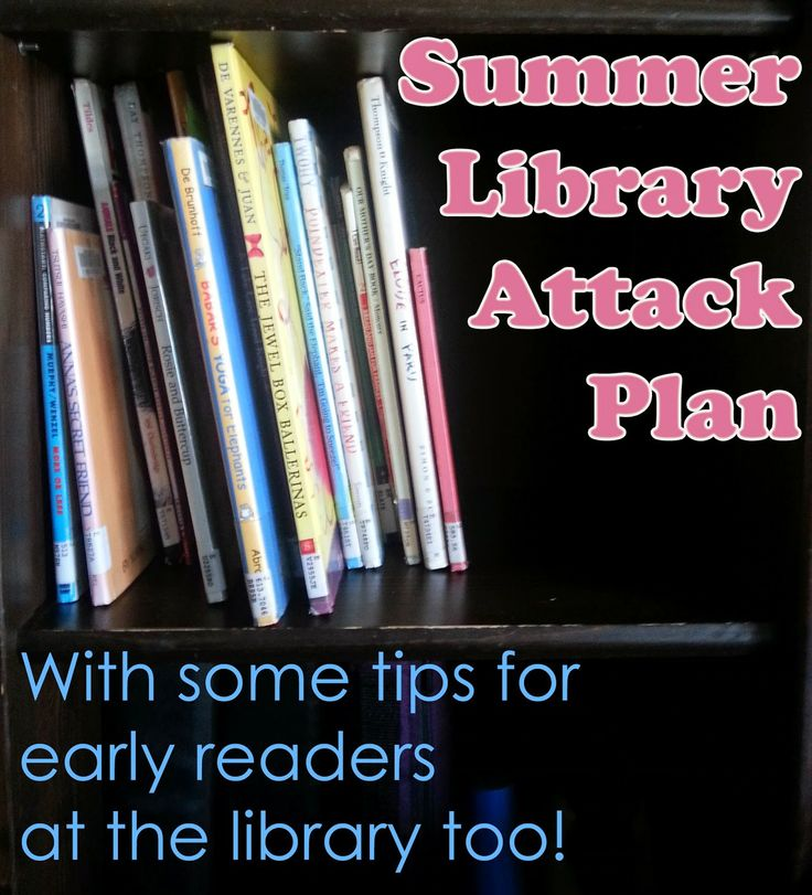 Our summer library plan.  Reading is the best thing kids can do with their brains during the summer and frequent library trips gives them a large variety!