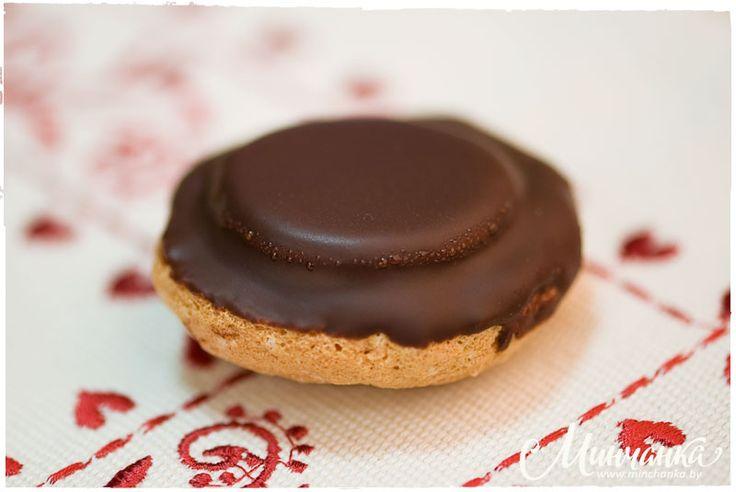 печенье с желе в шоколадной глазури