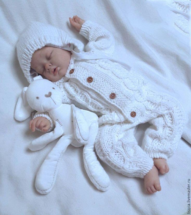 Купить Комбинезон Снежок - комбинезон, комбинезон детский, комбинезон для малыша, комбинезон вязаный, комбинезон для мальчика