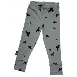 Grijze legging met vogels - Moi