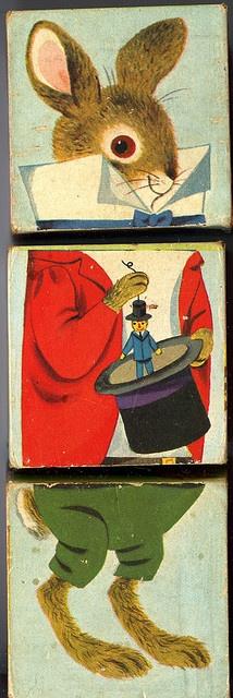 Changeable blocks playskool : lapin magicien by Ribambelles & Ribambins, via Flickr