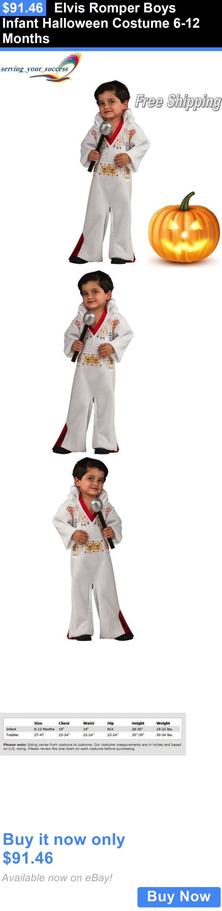 Halloween Costumes Kids: Elvis Romper Boys Infant Halloween Costume 6-12 Months BUY IT NOW ONLY: $91.46