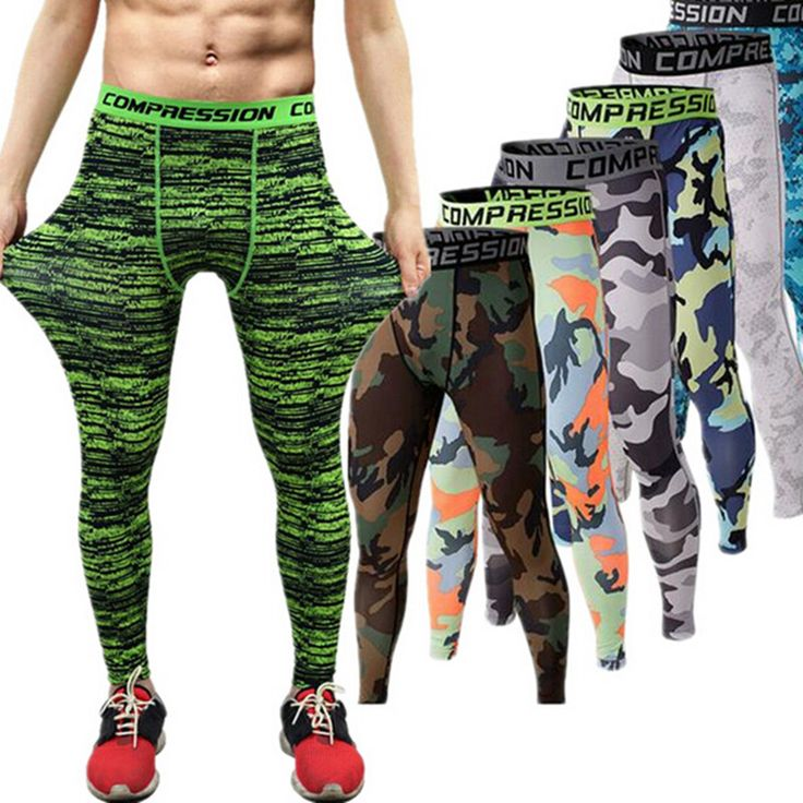 2016 Men Compression Pants Tights Casual  Bodybuilding Mans Trousers Brand Camouflage Army Green Skinny Leggings *** Want to know more, click on the image.