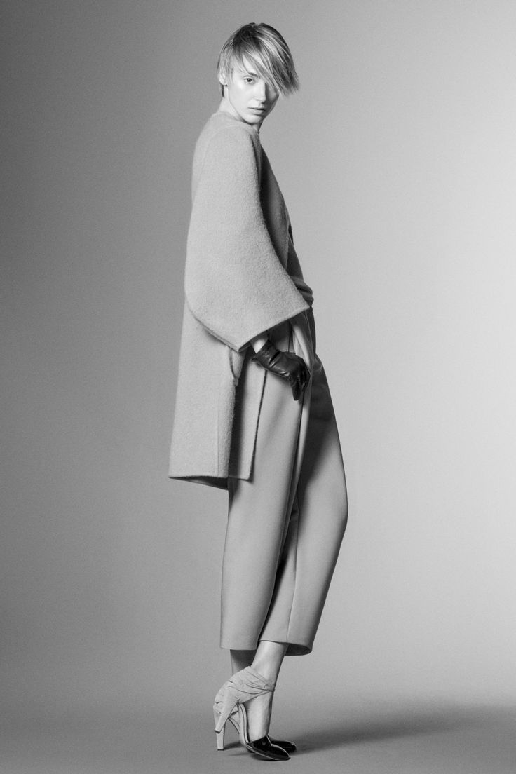 Minimalist Tailoring with clean lines & soft shapes; chic simplicity // Giorgio Armani Pre-Fall 2014