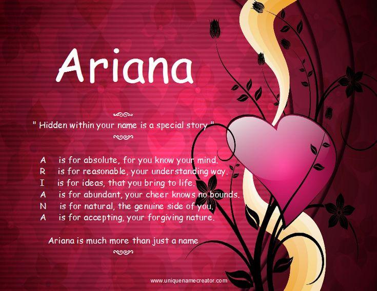 ariana meaning | Ariana