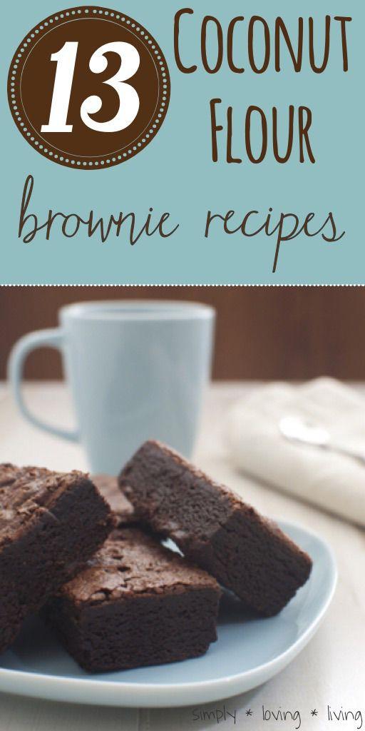 13 Amaaaazing coconut flour brownie recipes!!!