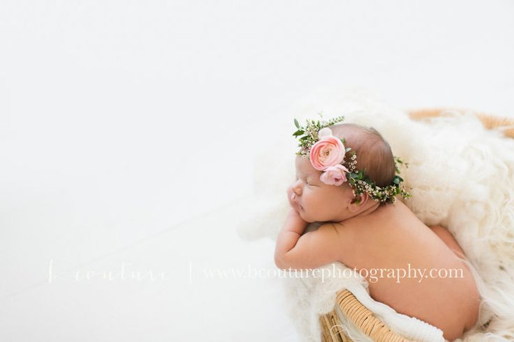 southern utah florist, baby floral crown, infant flower crown, ranunculus || bybloomers.com