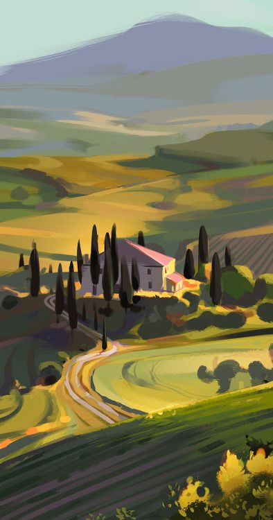 Color Studies from photos. Morocco and Tuscany, Italy http://kristykay.squarespace.com
