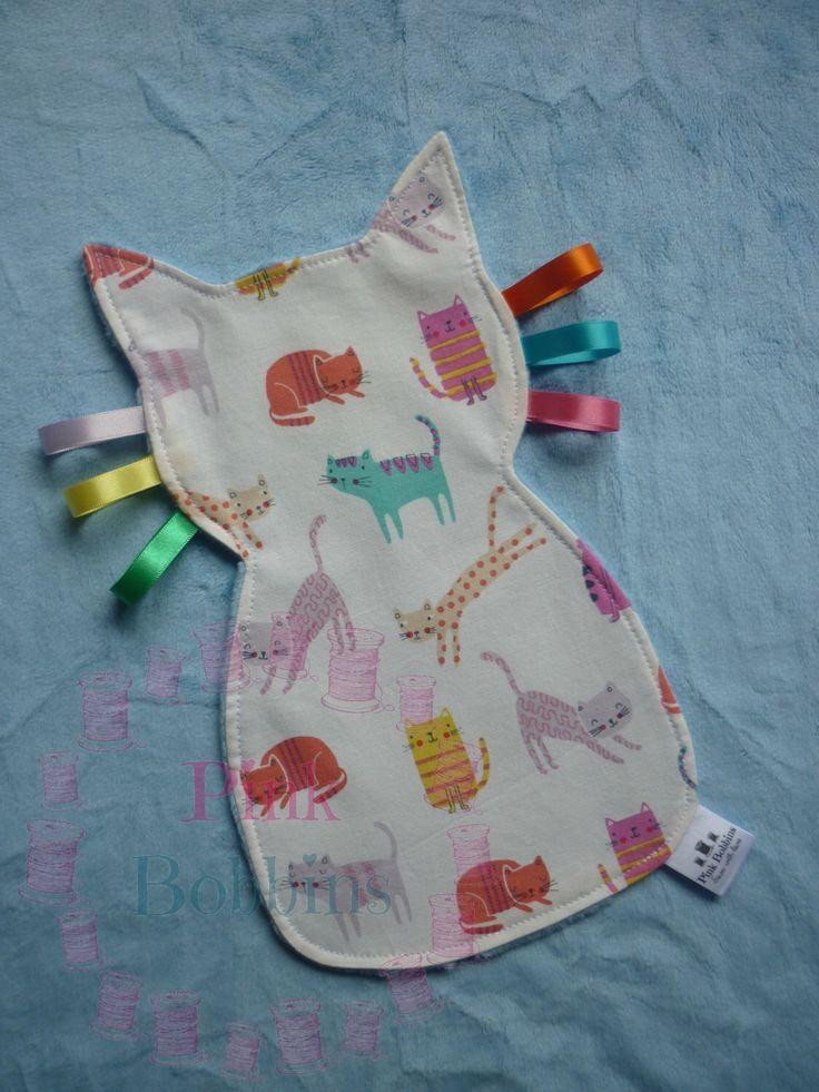 Kitty Baby Tag Tröster – Katze Baby Spielzeug – Katze Tröster – Baby Ribbon Spielzeug