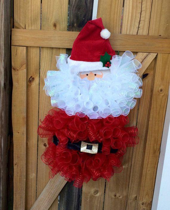 Deco malla Santa guirnalda guirnalda de la Navidad de Santa