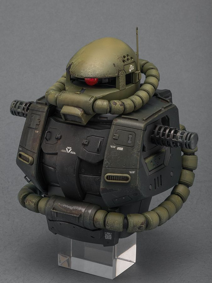 Mega Size 1/48 Zaku II Mass Production - Customized Build Modeled by 白用!