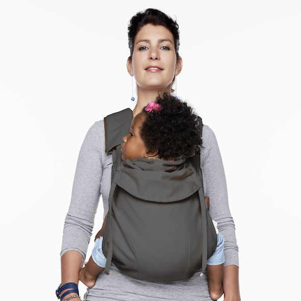 The Mei-Tai Deluxe is also available in 100% Cotton - STEEL GREY. More info at http://www.bykay.com.au/shop/products/bykay-mei-tai-deluxe-cotton-baby-carrier/