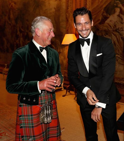 Campaign for Wool Patron Prince Charles Prince of Wales and supermodel and face…