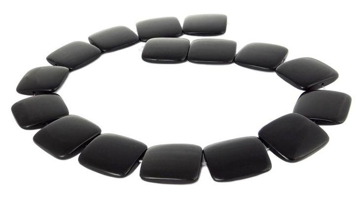 "Horn-Perlen ""Schwarzes Horn"" große flache Quadrate ca. 25 mm Naturperlen Strang in Bastel- & Künstlerbedarf, Bastelperlen & -schmuck, Steine, Perlen & Kugeln | eBay!"