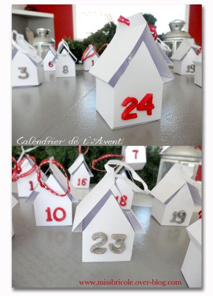 """Chose promise, voici aujourd'hui, un très joli calendrier de l'Avent à télécharger, rien que pour vous. Du papier, du ruban double face, quelques beaux rubans, de la pâte Premo et le moule """"Square chiffres"""", tout est prêt pour attendre le Père-Noël sans..."""