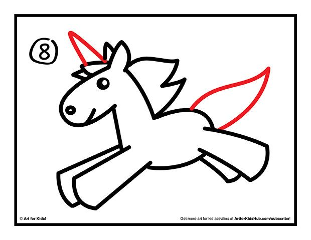 How To Draw Cartoon Unicorn Easy