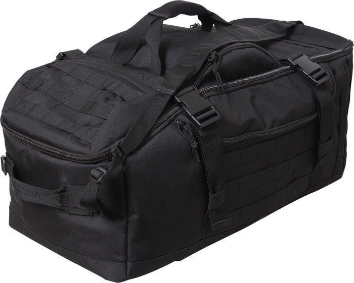 Black Tactical Mission Duffle Carry Bag Multi Functional Convertible  Backpack  Rothco  Backpack 0b434c1c90a