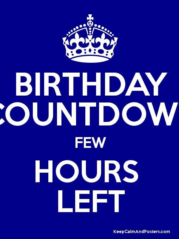 Birthday Countdown Quotes : birthday, countdown, quotes, Birthday, Countdown, Hours, Posters, Countdown,, November, Quotes,