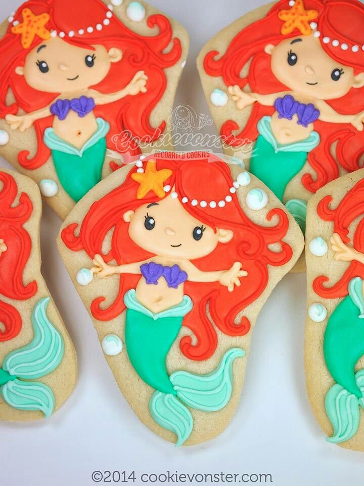 Mermaid cookies - WAY above my skill set...but inspiring nonetheless.