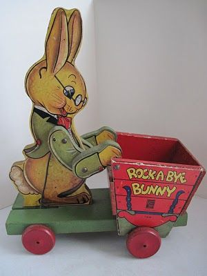 Fisher Price Rock A Bye Bunny Cart