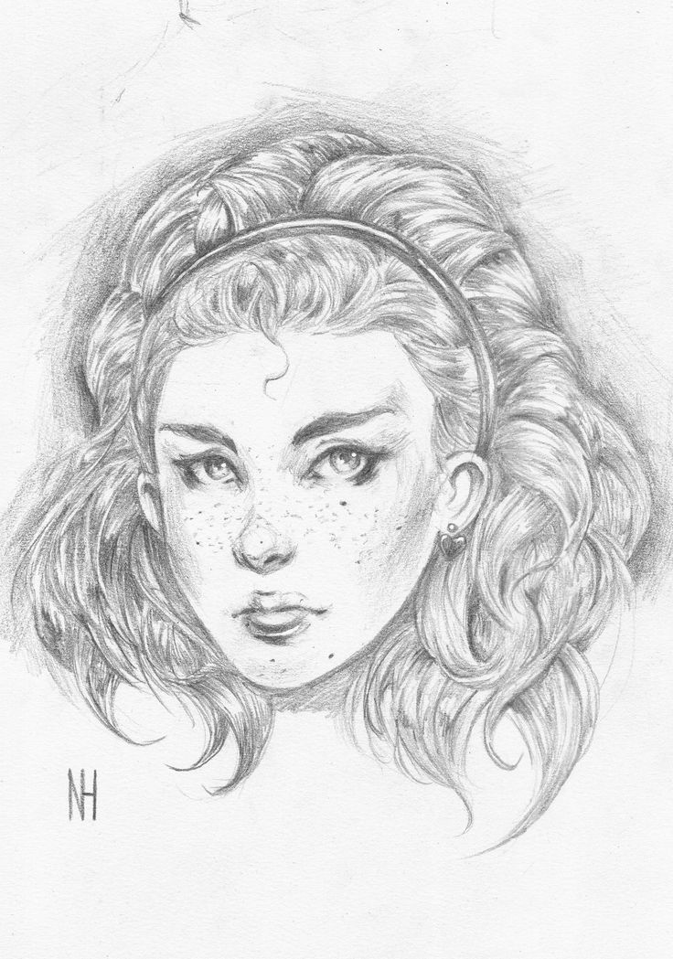 Girl #10 by xenomorph01.deviantart.com on @DeviantArt - I  used a 6b Pencil and water soluble correction fluid for some highlights.