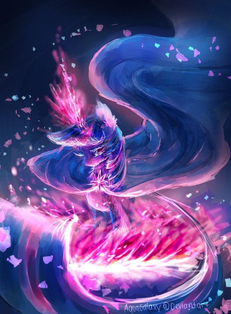 MLP AU : Twilight the dark witch by AquaGalaxy.deviantart.com on @deviantART