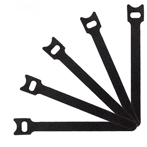 From 6.39 Tenn Well Velcro Cable Ties 50pcs Reusable Nylon Cable Ties With Hook Loop For Tidying Computer And Network Cables (black)