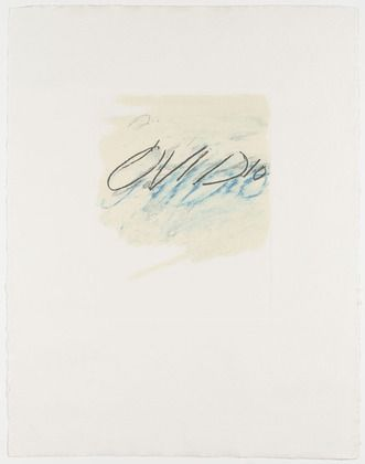 Cy Twombly. Ovidio from the portfolio Six Latin Writers and Poets. 1975-1976