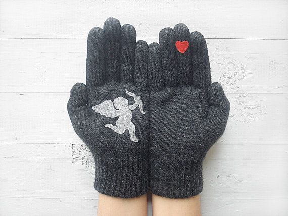 VALENTINES DAY GIFT, Cupid Gloves, Hearts, Angel, Arrow, Special Gift, Valentine Gift, Lover Gift, Gift For Her, Unique Gift, Lover Gift  These are