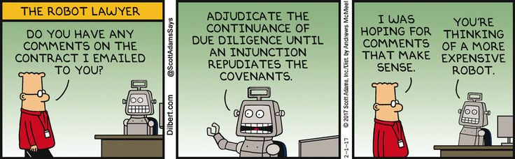 Robot Lawyer Has Comments - Dilbert by Scott Adams