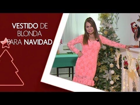 DIY Vestido de Blonda para Navidad Blonda dress for Christmas - YouTube