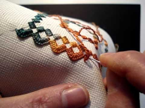 Hardanger Embroidery, Lesson 6, Blanket Stitch - YouTube