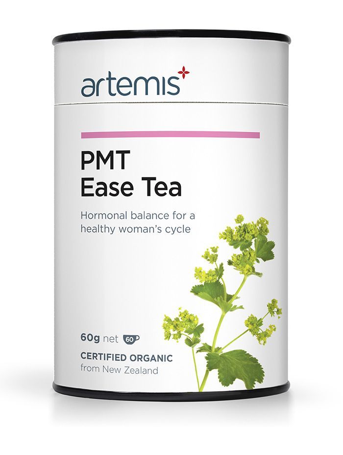 PMT Ease Tea is for unbalanced and painful periods. It is formulated to vanquish pre-menstruation troubles of all degrees. This complex formula works to rebalance hormones (and moods), ease the symptoms from Endometriosis and send painful and irregular periods packing. Certified Organic, from NZ.