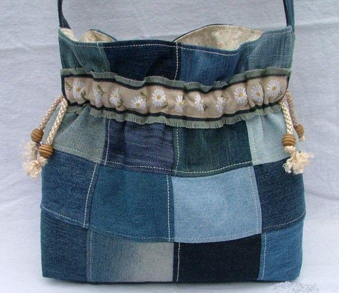 Оригинальные сумки из джинсовой ткани, фото | Padrões de ...