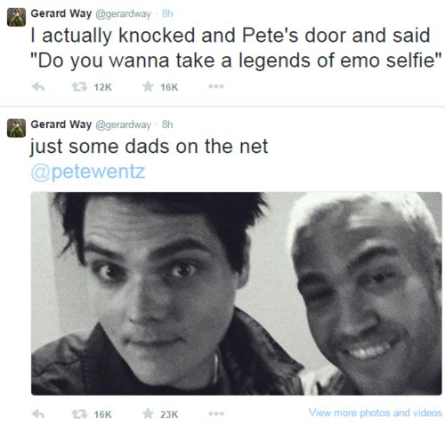 HOW ARE GERARDS EYEBROWS THAT GOOD OMG !!!! *me screaming in the distance*