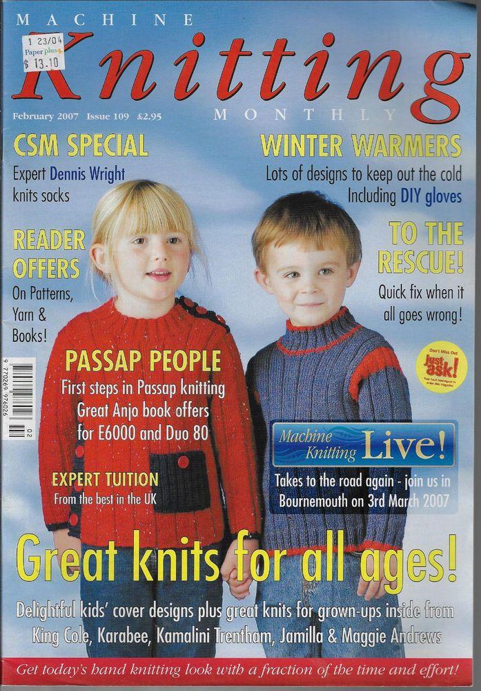 Machine Knitting Monthly magazine February 2007 Issue 109 children sweater top