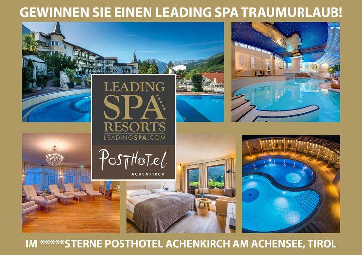 Habt Ihr schon unser aktuelles Gewinnspiel auf Facebook gesehen? Zu gewinnen gibt es 3 Traumnächte für 2 Personen inkl. Wohlfühlpension im Posthotel Achenkirch in Tirol!   #leadingsparesorts #gewinnspiel #mitmachen #facebook #winaholiday #wellnesshotel #wellnessurlaub #gewinner #luxury #spa #leadingspa
