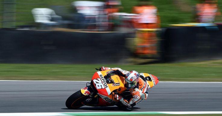 Piloto espanhol de MotoGP Dani Pedrosa, da Repsol Honda Team, treina para o Grande Prêmio da Itália, realizado em Mugello