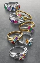 Tradition® Daughter's Pride Engraveable Ring with Simulated Birthstones from Sears Catalogue  $299.99