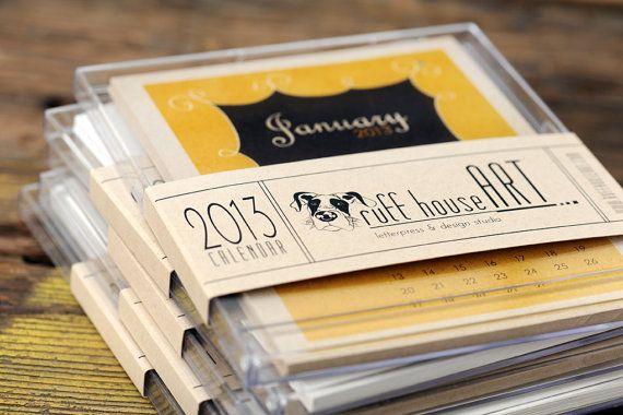 2013 Desk Calendar  35 OFF SALE  Dictionary by ruffhouseart, $9.00