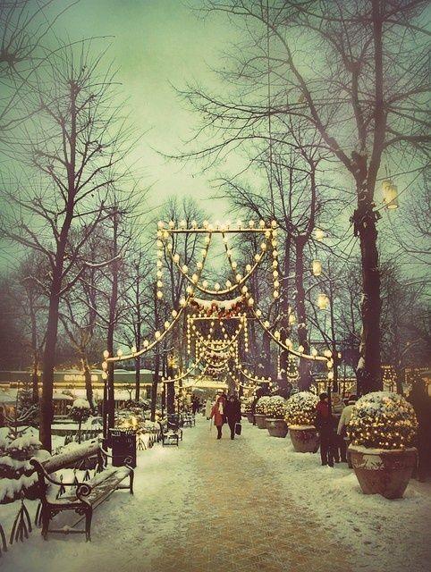 Winter Wonderland. Tivoli Gardens in Copenhagen, Denmark.